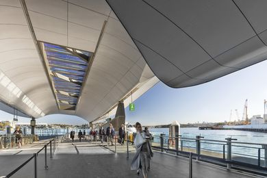 Barangaroo Ferry Wharf by Cox Architecture.