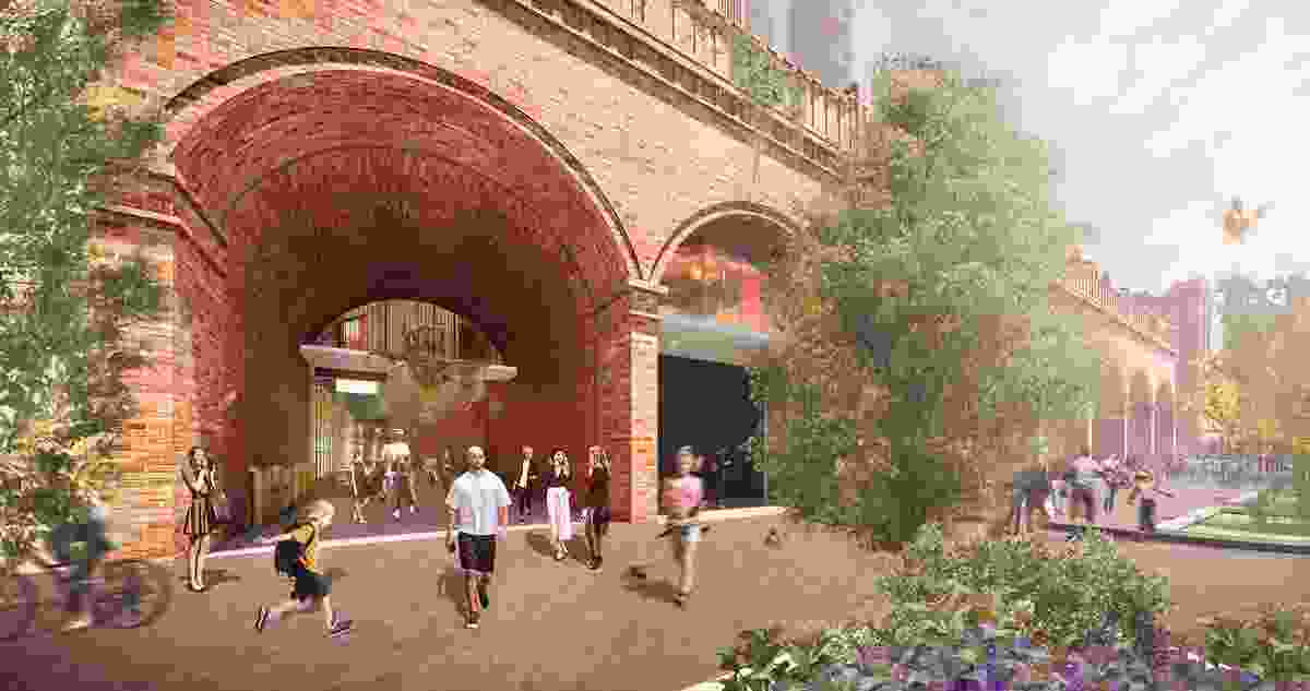 Historic arches lost for decades will be reinstated in the redevelopment of Adelaide's Central Market Arcade designed by Woods Bagot.
