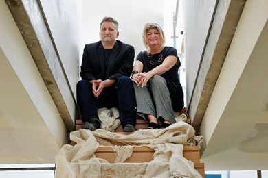 From left: Huw Turner and Penny Collins.