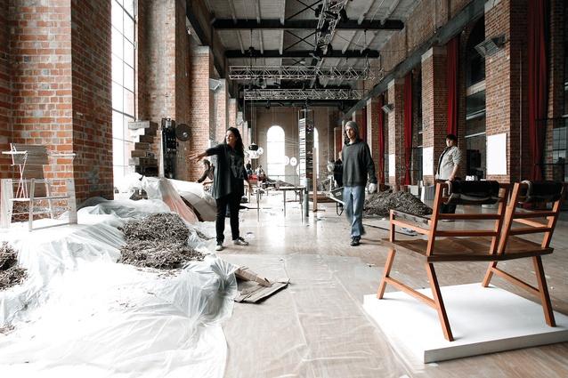 <em>Fringe Furniture</em> 2010 installation by Edwards Moore.