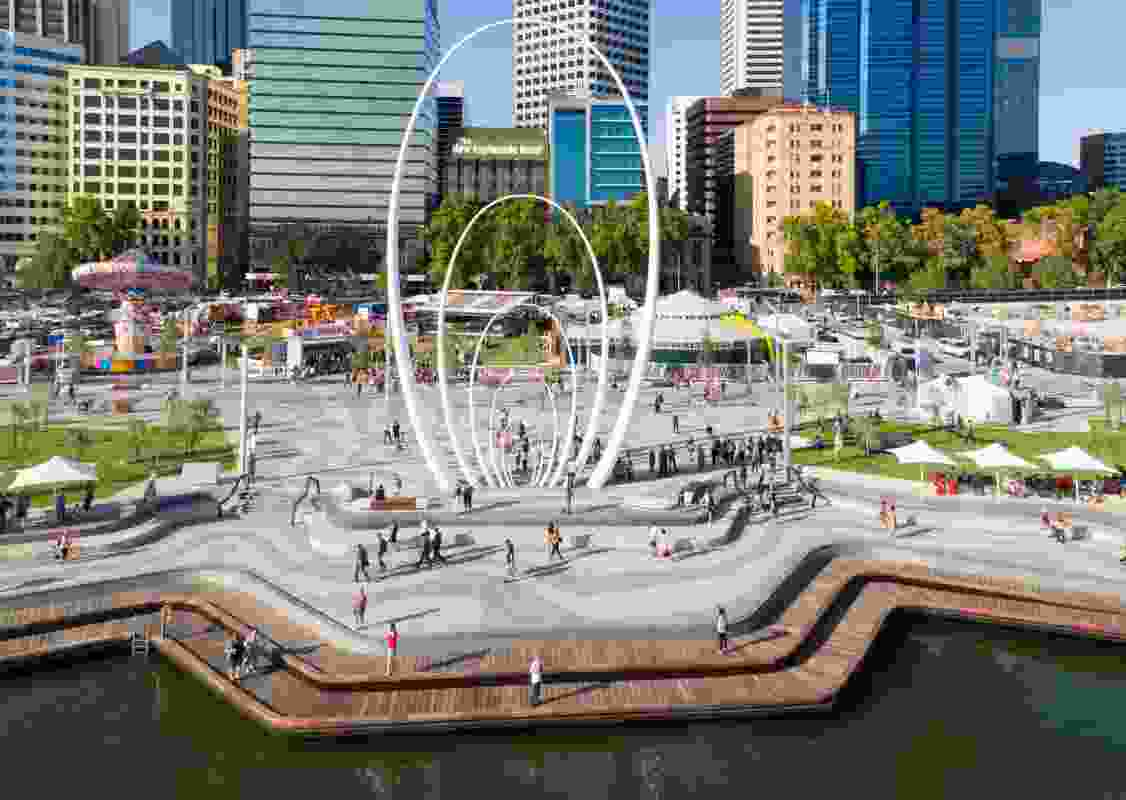 Elizabeth Quay (Perth, Western Australia) by Metroplitan Redevelopment Authority with ARM Architecture and Taylor Cullity Lethlean.