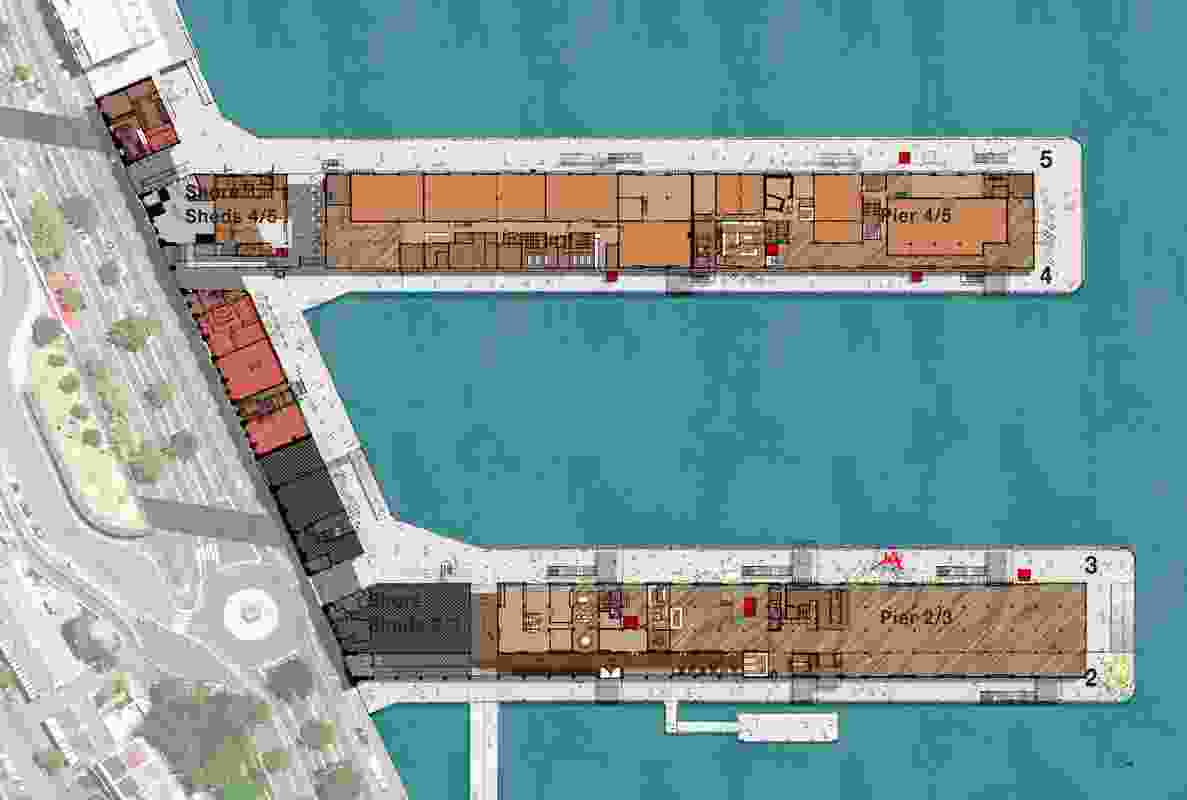 Plan of Walsh Bay Arts Precinct Redevelopment by McGregor Coxall, landscape architect for the project.