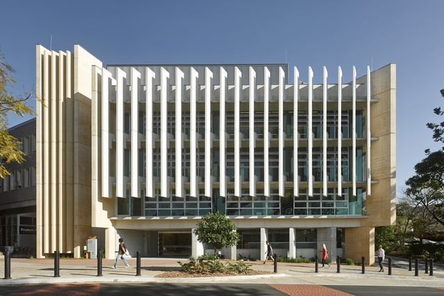 Learning Innovation Building at the University of Queensland by Richard Kirk Architect.