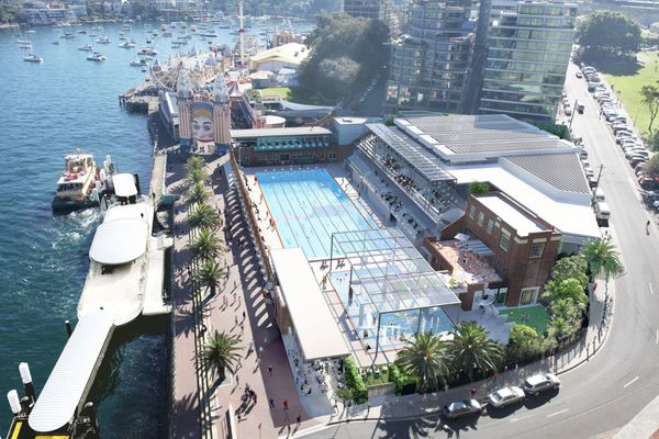 North Sydney Olympic Pool redevelopment by Brewster Hjorth Architects.