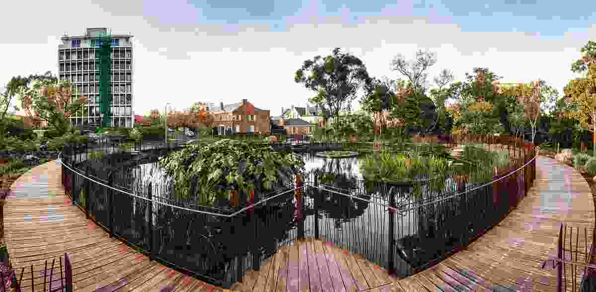 Water treatment is an important component of Guilfoyle's Volcano at the Royal Botanic Gardens Melbourne.