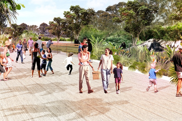 Entrance to the proposed Sydney Zoo masterplanned by Aspect Studios.