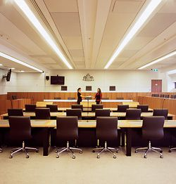 Jury court in the Federal Court at Queen's Square Law Courts.