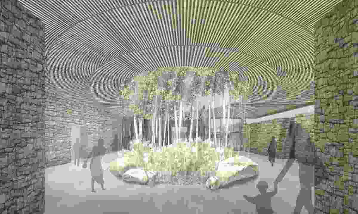 Fender Katsalidis Architects' proposal for the Southern Highlands Botanic Gardens visitor centre.