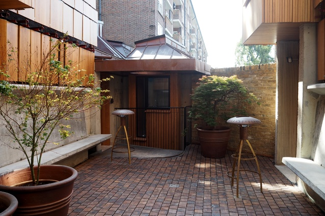 A courtyard in the Walmer Yard townhouses by Peter Salter.