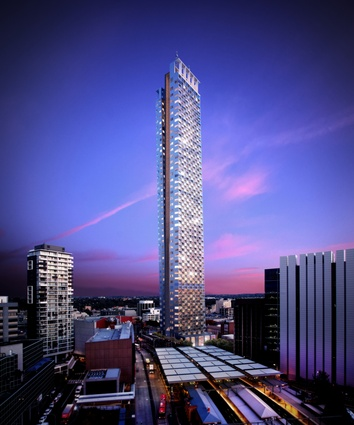 Aspire Tower by Grimshaw Architects represents stage two of one of Australia's largest urban renewal projects.