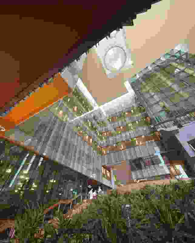 The six-storey atrium.