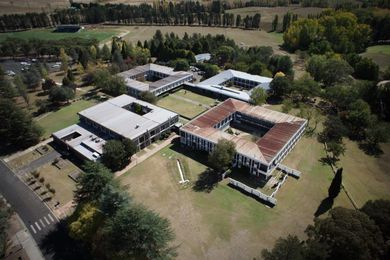 Aerial view of Robb College.
