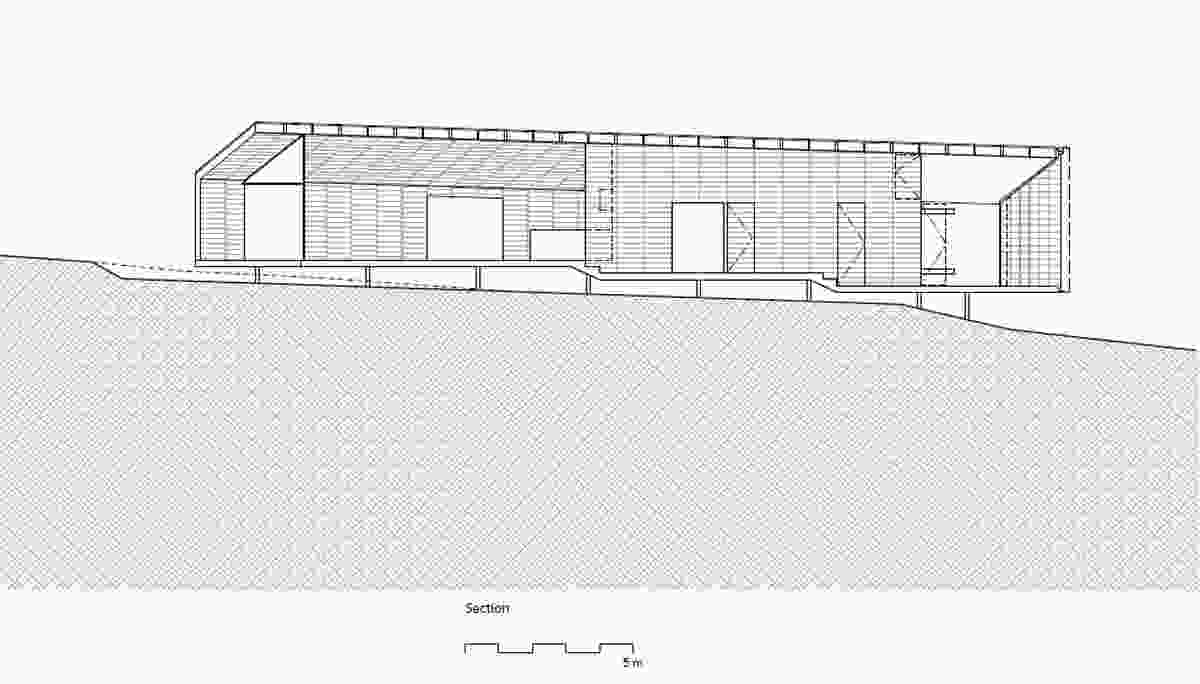 Section of Shearer's Quarters by John Wardle Architects.