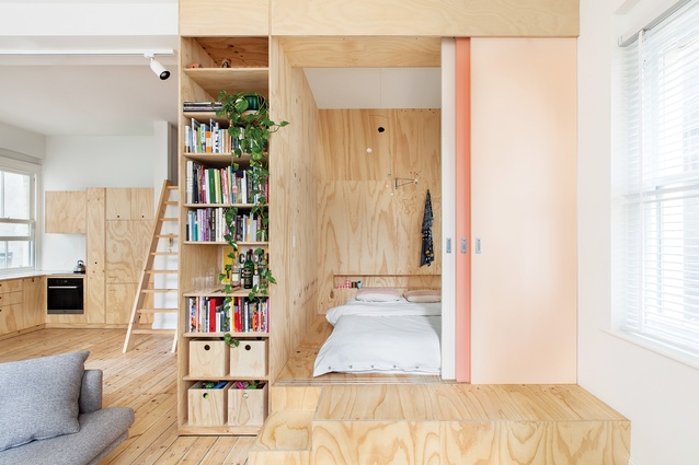 The choice of materials, along with windows on three sides, allow Flinders Lane Apartment to feel bigger than it really is.
