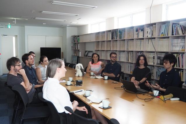 2015 Dulux Study Tour studio visit to Toyo Ito and Associates' office.