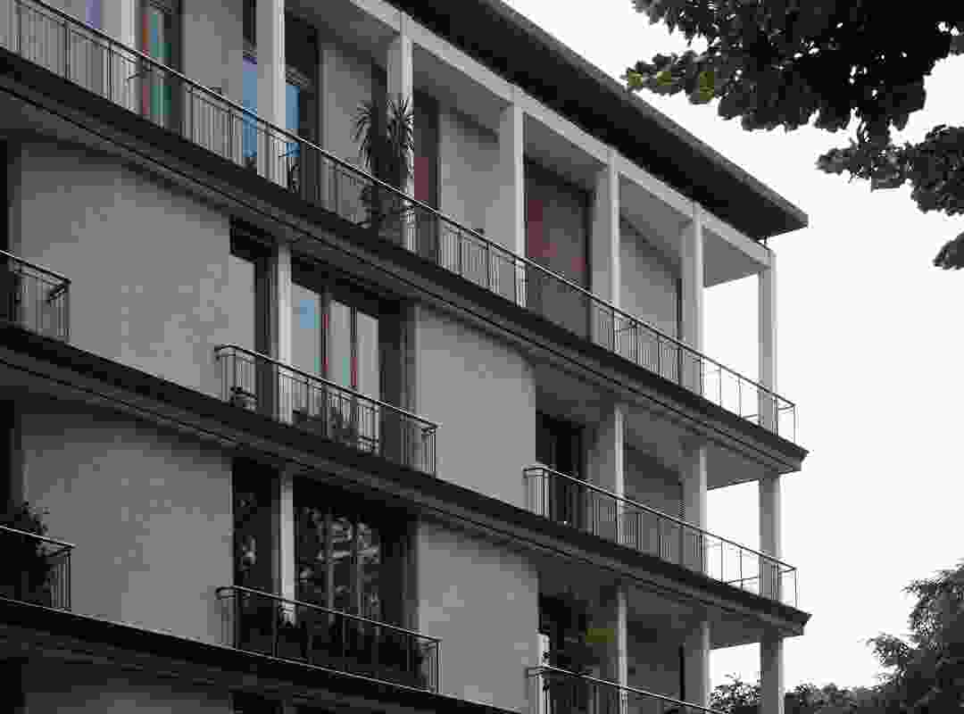 An example of the developing Milanese residential style during the 1950s and 60s.