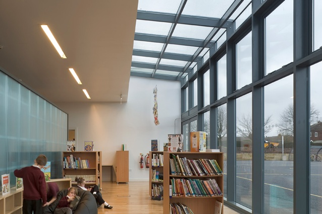 The Redbrook Hayes School by Walters and Cohen is designed effectively as a school without corridors.