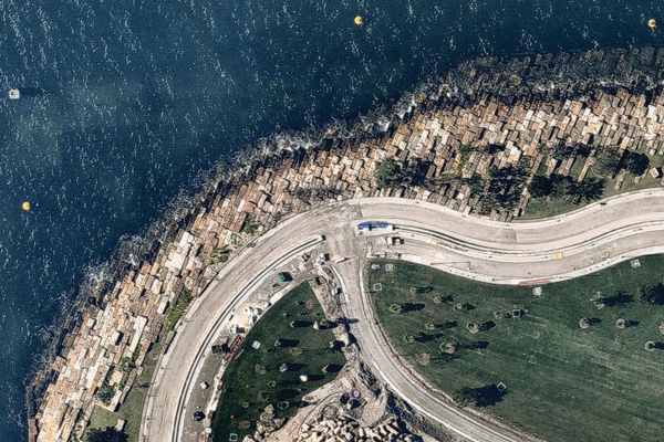 Barangaroo Point, Sydney, November 2014. Aerial image taken from Nearmap.