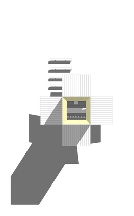 Roof plan of the Sean Godsell-designed chapel for the <i>Vatican Chapels</i> exhibition at the Venice Architecture Biennale.