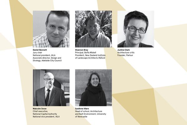 The jury for the 2016 AILA National Landscape Architecture Awards.