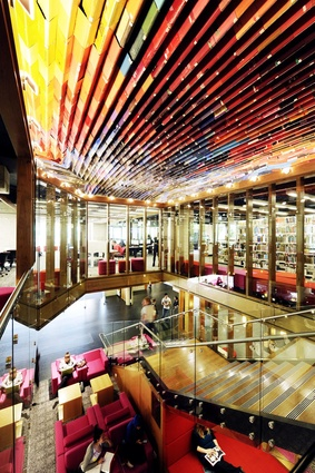 Queensland University of Technology (QUT) Kelvin Grove Library Upgrade – Book Canopy – Peddle Thorp Architects in Association with James Cubitt Architects