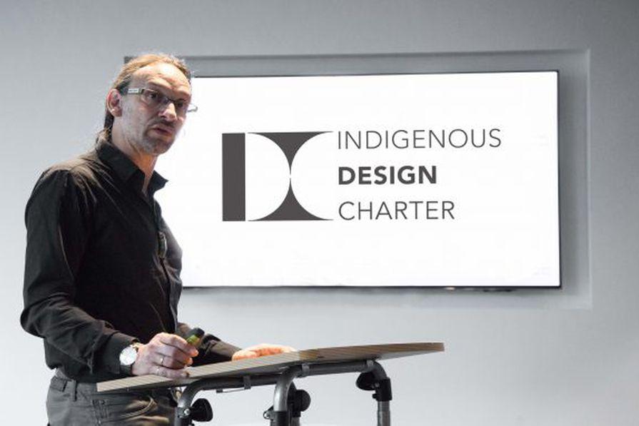 Jefa Greenaway presents the  International Indigenous Design Charter.