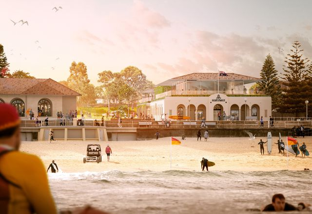 由Jesse Lockhart-Krause建筑事务所设计的Bondi冲浪救生俱乐部的修复和再开发方案。