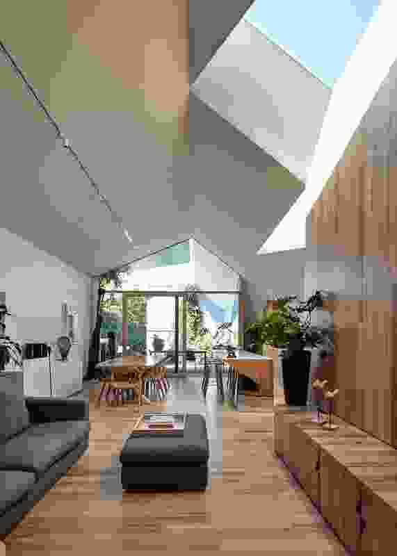 单层设计确保了住宅的宜居性,因为业主在那里一起老去。
