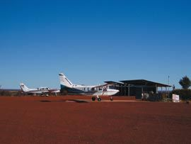 The Patjarr Visitor Centre as airstrip gallery. Photograph Matt Rumbelow.