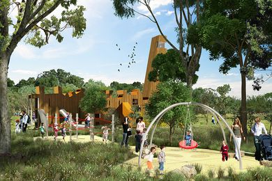 A playground at the proposed Bungarribee Super Park by JMD Design and Western Sydney Parklands Trust.
