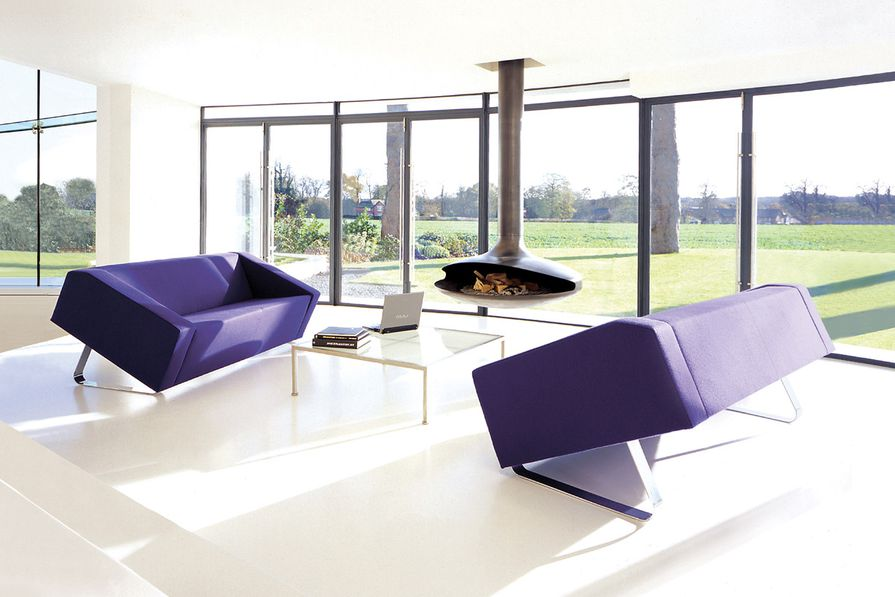 The Obelisk sofa is manufactured by Allermuir.