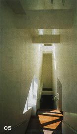 """The stair housed within the """"thickened"""" west wall.Image: Trevor Mein."""