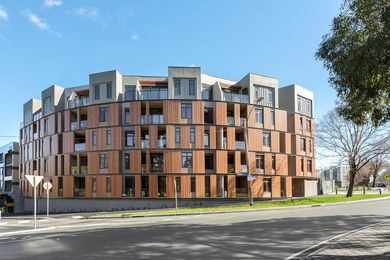 An affordable housing apartment complex in North Melbourne designed by Fender Katsalidis.