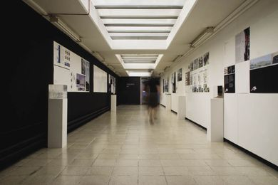 The exhibition as installed at the University of Westminster's Bridge Gallery.