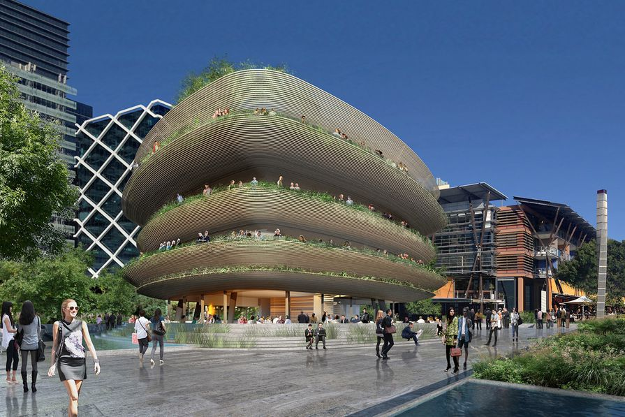 Collins and Turner's winning proposal features striking bamboo cladding.