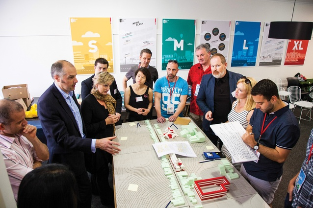 The forum brought together students from the MSD and staff from Tract Consultants to rethink the contemporary urban shopping strip.