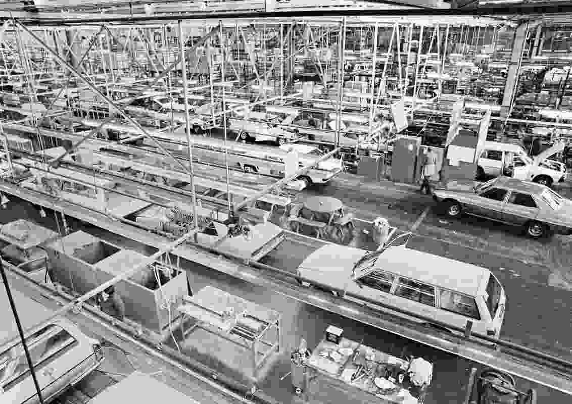 The MAB during peak operations. The site has played a monumental role in South Australia's manufacturing history.