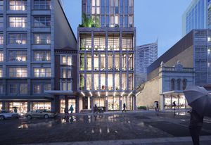The 375 Pitt Street tower by Crone Architects.