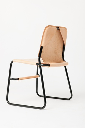 The TBC1 chair features handcrafted leather and is made to order in Melbourne.