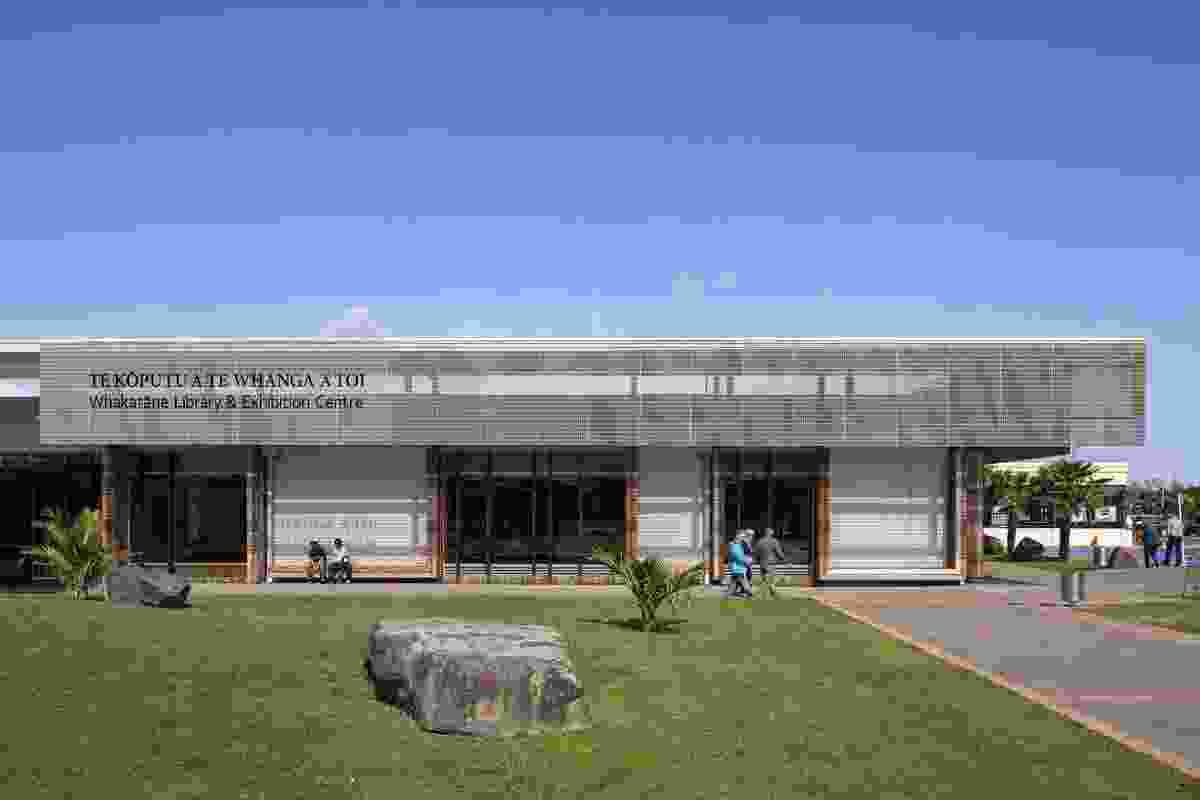Te Koputu e the Whanga a Toi: Whakatane Library & Exhibition Centre by Irving Smith Jack Architects.