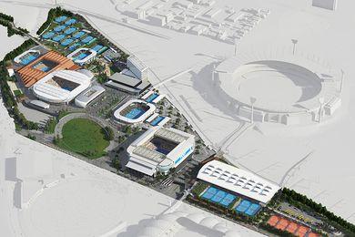 The redevelopment of the Melbourne Park sports precinct.