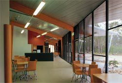 Staff/student common room on the building's northern edge.Image: Richard Stringer