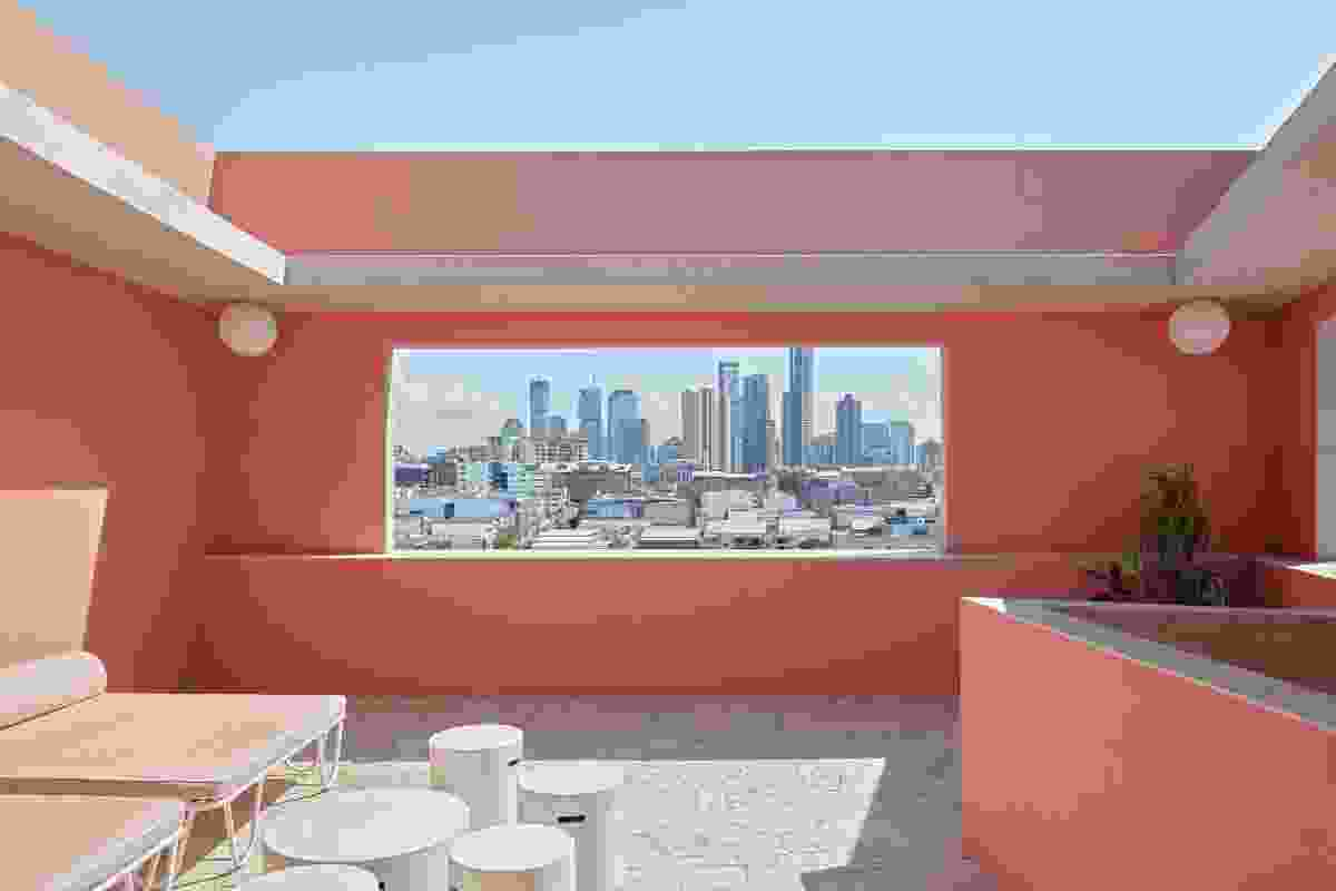 Two private rooftop terraces are accessed from the hotel's primary suites and overlook James Street.