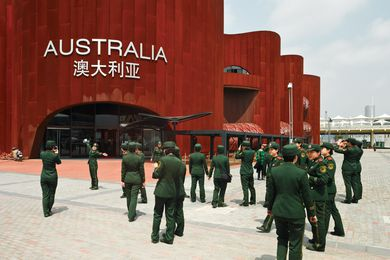 A distinctive exterior for the Australian Pavilion at the 2010 World Expo in Shanghai.