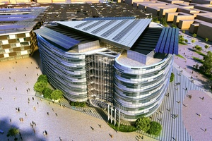 The Proposed Masdar Headquarters By Woods Bagot. Image: Courtesy Woods Bagot