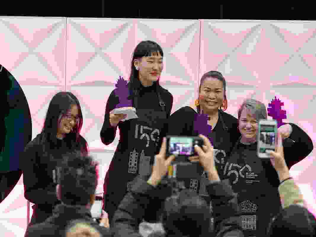 The winners, L–R: Caroline Lee, Monica Lam, Zarah Noriel and Sharon Frantz.