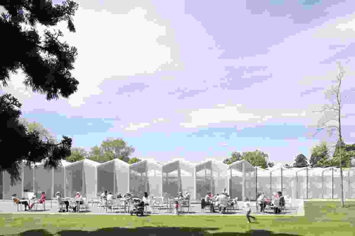 Public Architecture category finalist: Christchurch Botanic Gardens Visitors Centre by Patterson Associates.