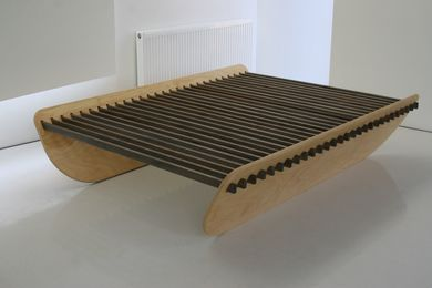 The slats can be stained various colours.
