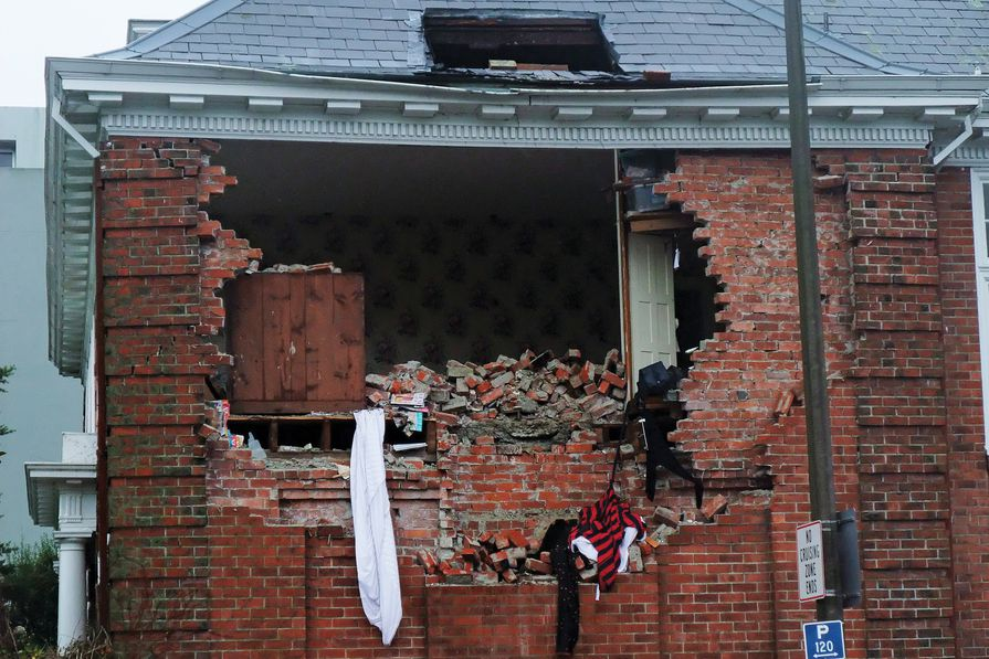 Not feeling resilient: a scene from post-earthquake Christchurch, New Zealand, 2011.