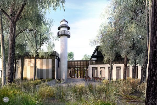 The proposed Bendigo mosque designed by GKA Architects.
